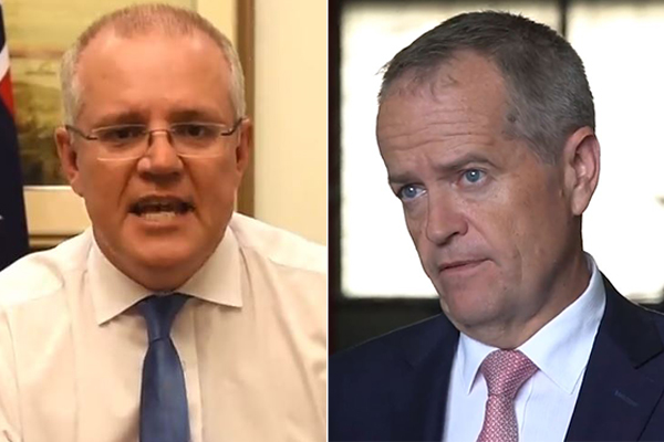 Article image for Scott Morrison says Labor tax plan is 'absolute trainwreck'