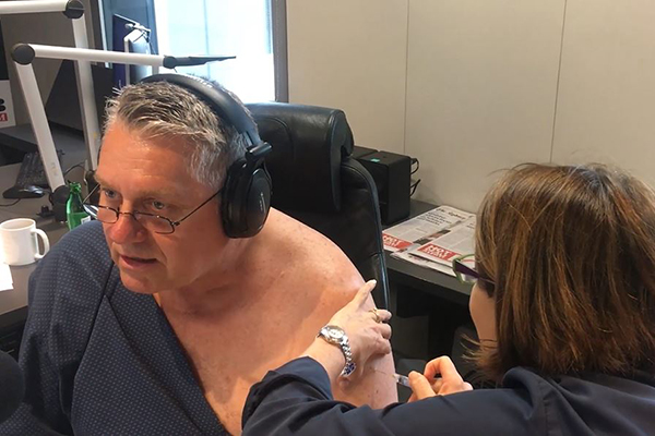 WATCH | Ray gets his flu shot live on air