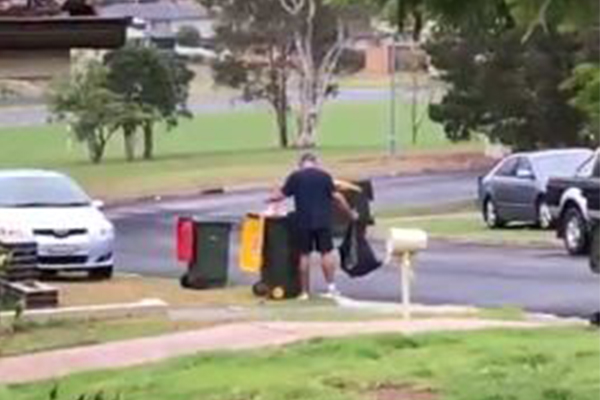 Article image for WATCH: Bins raided for Return and Earn refunds