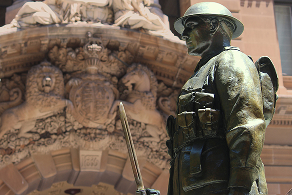 Article image for Veterans Affairs Minister phones in to defend crumbling war memorials