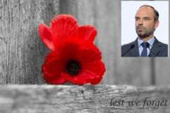 French PM's moving Anzac Day address