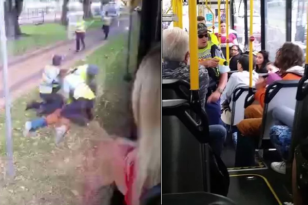 EXCLUSIVE | Man tasered on bus has HUGE criminal record