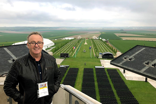 Article image for GALLERY   Chris broadcasts live from Villers-Bretonneux