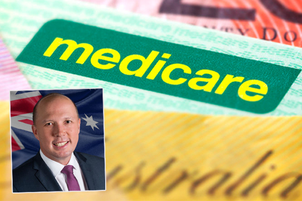 Article image for Dutton claims scrapped Medicare levy is a win for the government