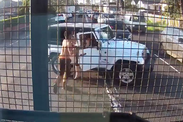Article image for Man pulls out a chainsaw during road rage brawl