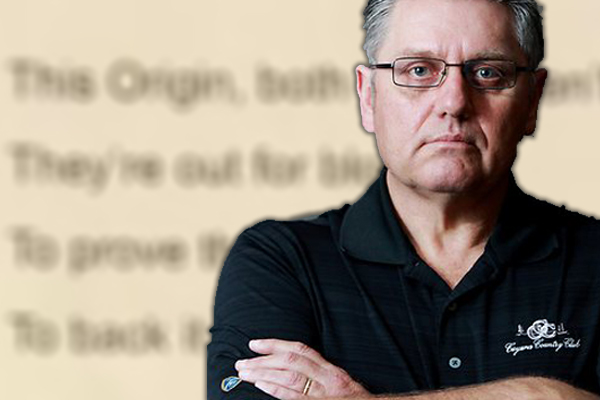Article image for Ray Hadley refuses to read 'nonsense' NRL ad, tears up script live on air