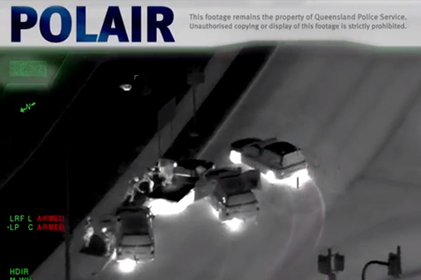 Article image for WATCH   Helicopter footage shows dramatic police pursuit