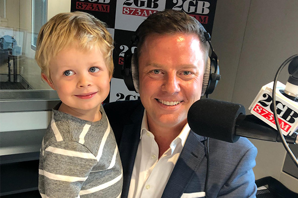 Article image for Ben's son Freddy has hit the 2GB airwaves