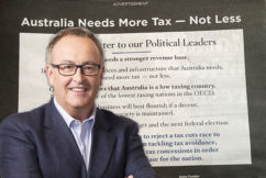 This unbelievable ad is calling for more taxes