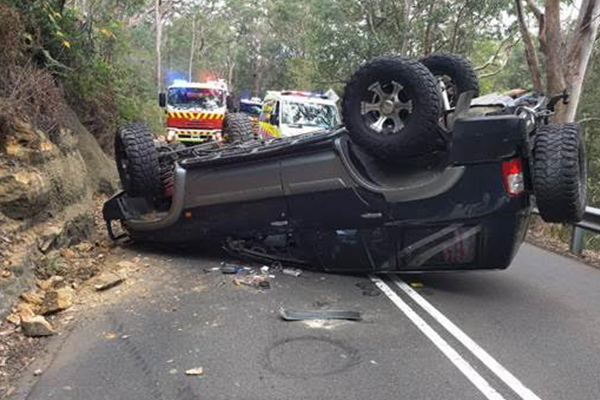 Article image for Driver's survival a 'miracle' after horrific accident at Galston Gorge