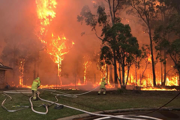 'Suspicious' blaze continues to burn in Sydney's south-west