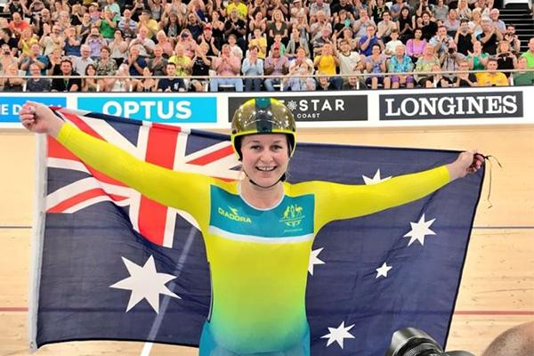 Article image for Triple gold medallist shines as Australia dominates the velodrome