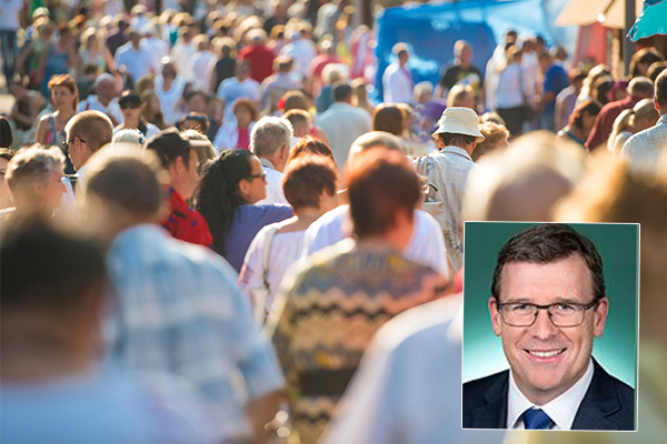 Article image for 'We're working on this': Citizenship Minister promises action as population passes worrying milestone