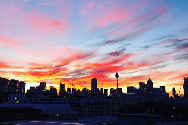 Article image for GALLERY | Sydney wakes to a burning sky