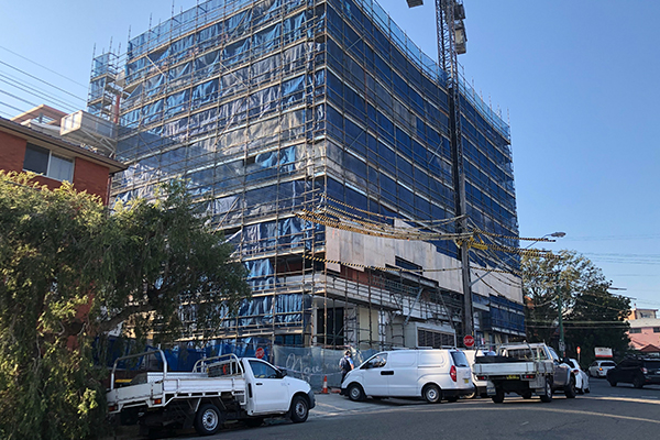 Woman's body found at construction site in Gladesville