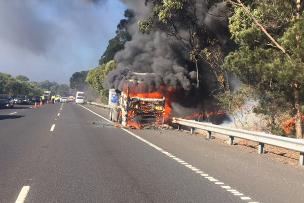 Article image for Truck fire closes the M1 motorway