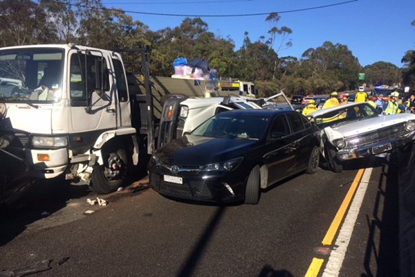 Article image for Shocking crash closes Woronora Bridge