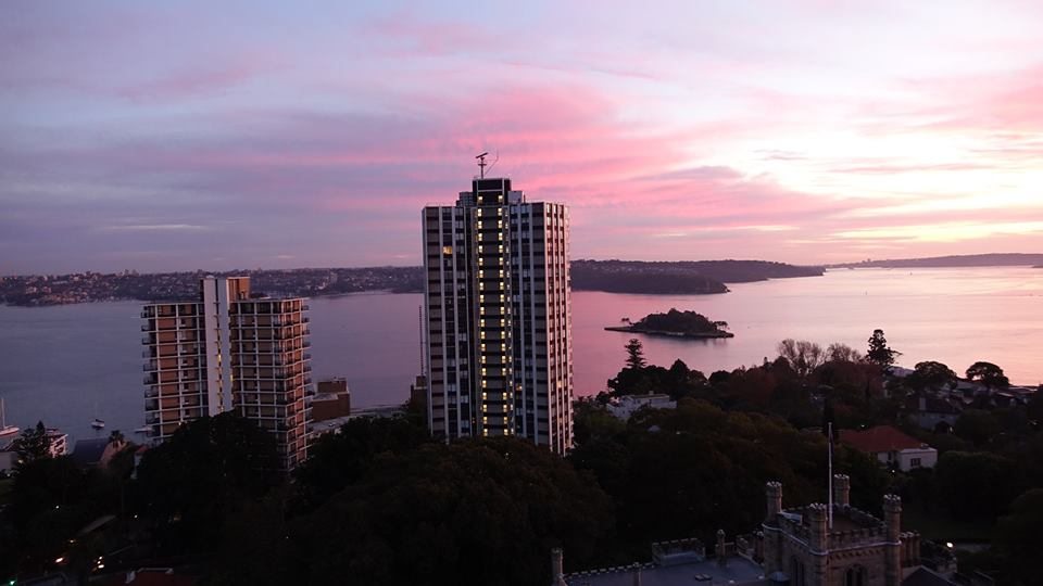 sun rise from Darling Point
