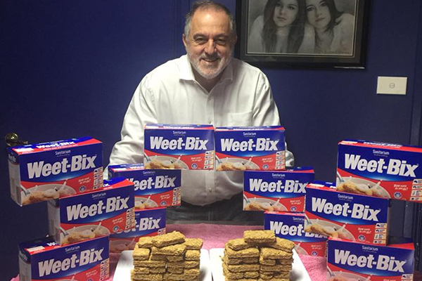Current Weet-Bix world record holder has a message for his challenger