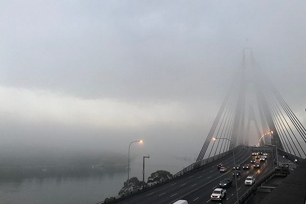 Fog ANZAC Bridge