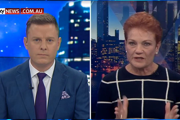 Article image for Pauline Hanson breaks down in tears during Ben Fordham TV interview