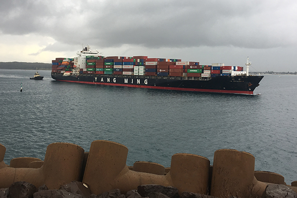 Article image for Damaged container ship finally limps into shore