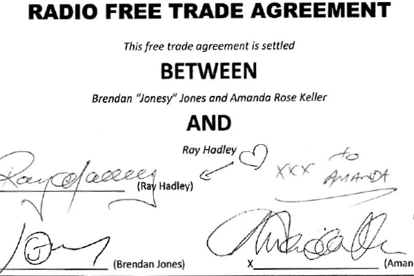 Article image for Deal done | Ray Hadley signs major radio agreement with WSFM's Jonesy and Amanda