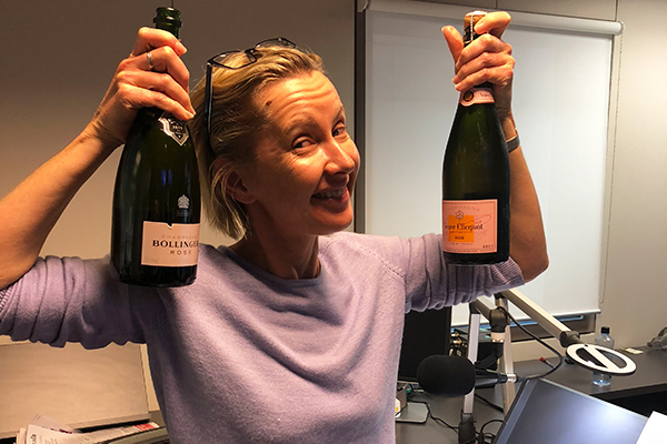 Cheers to that! Popping bottles for Veuve Clicquot's birthday