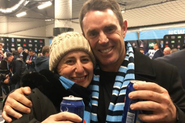 Article image for 'How could I refuse Freddy Fittler?' Premier celebrates with victorious Blues coach