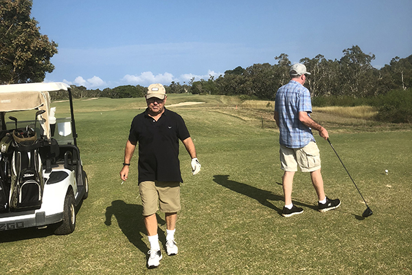golf with winer