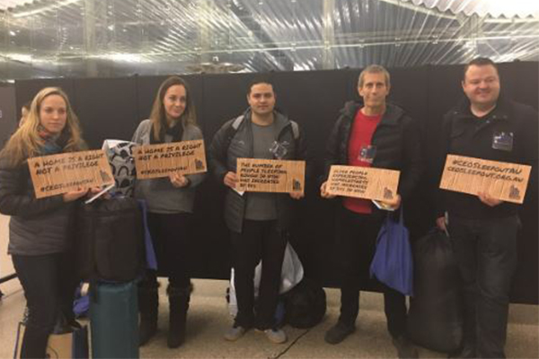Article image for Vinnies have high hopes for annual CEO Sleepout