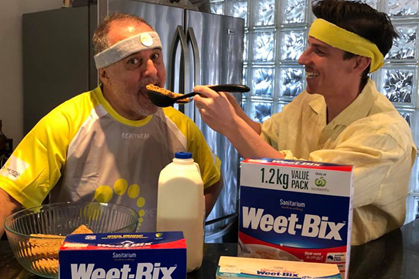 Article image for 'How many do you do?': Dr Rob Zammit takes Weet-Bix slogan to the next level
