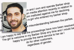 Barber forced to cut women's hair after being dragged through discrimination case