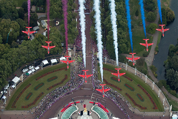 'Absolutely first class': British RAF marks 100 years in the air