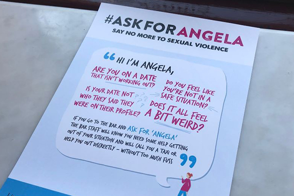 Article image for 'Ask for Angela': New campaign to protect women at bars