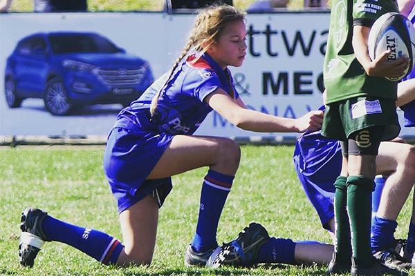 Article image for 'She didn't just play, she dominated': Young rugby sensation takes beaches by storm