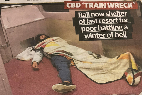 Article image for 'Compassion demands we do something', homeless forced to sleep on trains