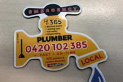 Have you seen these magnets? Dodgy plumbing company launches deceptive campaign