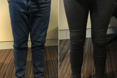 Ray Hadley takes on producer Taylah in skinny jean battle