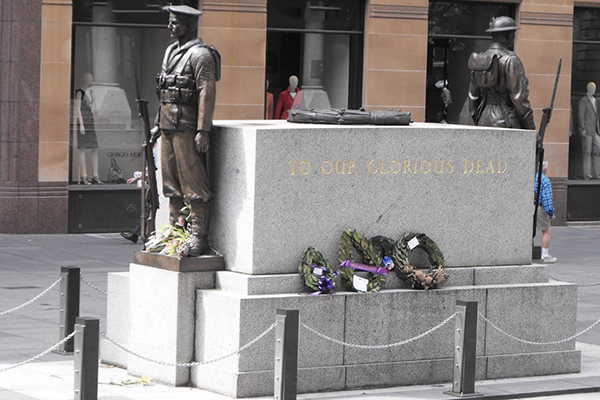 Article image for Drunken disgrace: Man defaces the Martin Place cenotaph