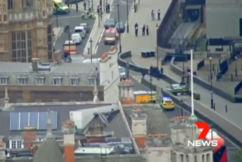 Man arrested, pedestrians injured after car crashes through UK parliament barriers