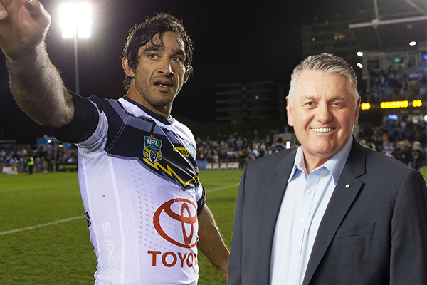 Article image for 'He's the best Rugby League player I've ever called': Ray pays tribute to NRL great