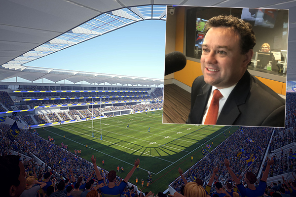 Article image for Controversial stadium reaches its final stages