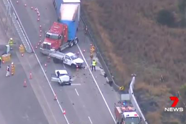 'He just kept coming': Shaken truckie describes moments before fatal M1 crash