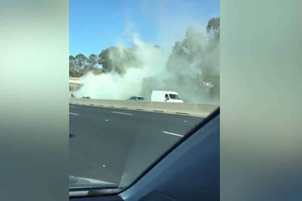 Article image for WATCH | Nightmares continue on the M4 with truck on fire