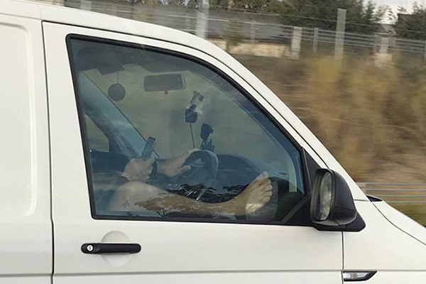 Article image for #BelieveItOrNot: Driver caught in a very unusual position