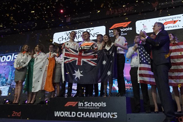 Article image for Aussie school team takes home the win at world final for high-speed racing car