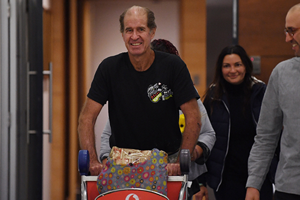 Article image for James Ricketson back on Australian soil after more than a year in Cambodian jail