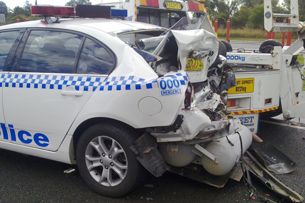Article image for This photo shows exactly why cars should slow down for emergency vehicles
