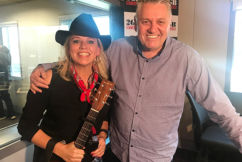 Country music songstressBeccyCole serenades Ray in-studio